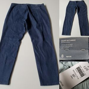 8 P / PET | J JILL BROOKLYN FRONT SLIT ANKLE JEANS